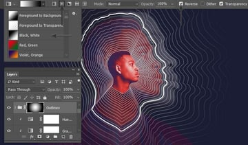Add a mask to the group and use a radial gradient