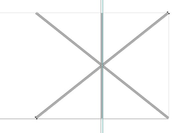 create the other diagonal border line