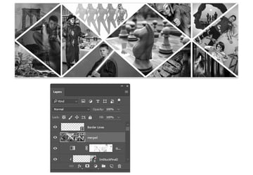 Create a merged layer and desaturate it