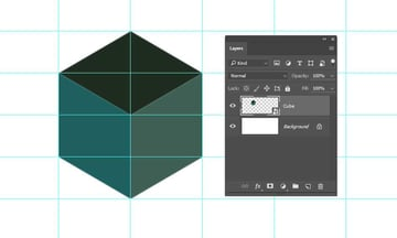 Create a smart object from the drawn cube