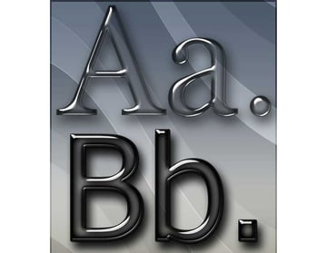 Elegant Glass Text Effects Styles