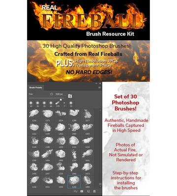 Real Fireball Brush Resource Kit