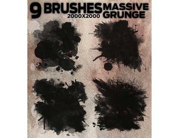 9 Massive Grunge Brushes