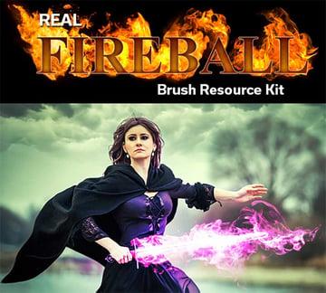 Real Fireball Brush Resources Kit
