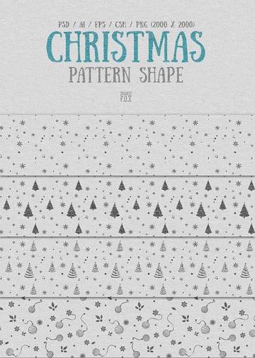 Christmas Pattern Shape