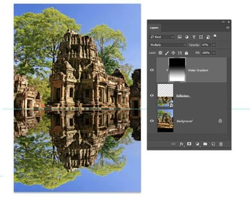 Adjust the blending mode and opacity