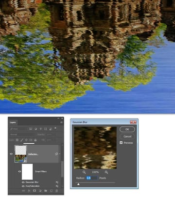 Use the Gaussian Blur filter