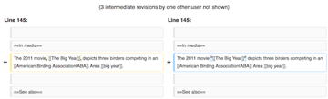 Comparing revisions in MediaWiki