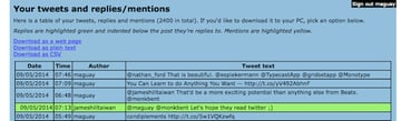 Export your Tweets