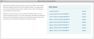 restore old notes in Evernote