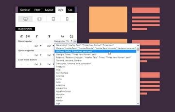 Newspaper WordPress Theme Typography Settings on block