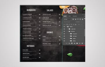 final result menu template