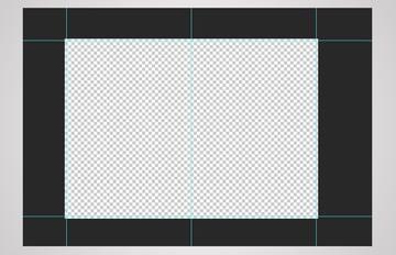 menu layout template center guide