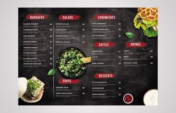 menu template elements disposition