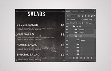 salads layers group