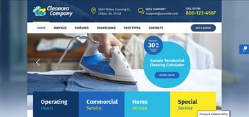 Cleanora - Maid Service Website Template