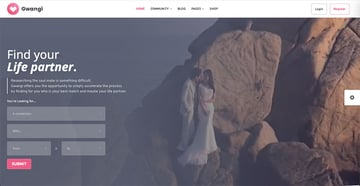 Gwangi - PRO Multi-Purpose Membership Social Network BuddyPress Community Theme