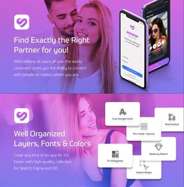 Mewer - Dating App Ui Kit Sketch Template