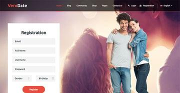 VeroDate - Dating Social Network Website HTML Template