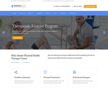 Physio Plus - Physiotherapy  Physical Therapy WordPress Theme