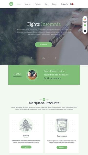 Indicana - Medical Marijuana Dispensary WordPress Theme