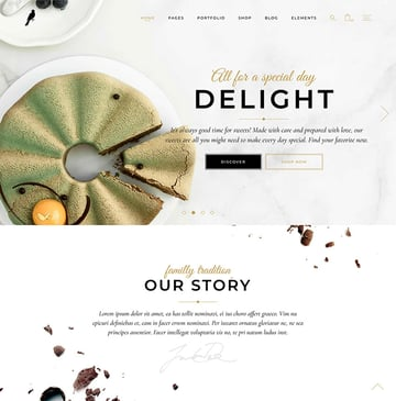 Dolcino - Pastry and Cake Shop Theme