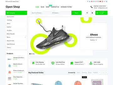 Open Shop Free WordPress Theme