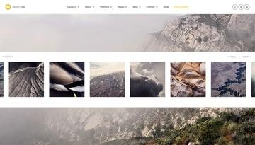 Shutter - Photography  Art WordPress Theme