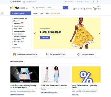 Torba PrestaShop Theme - Wholesale Website Design for Marketplace and Retail