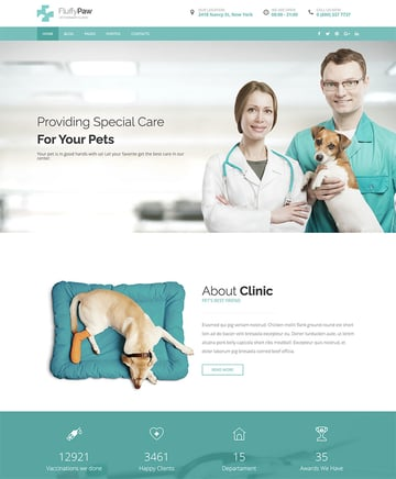 FluffyPaw - WordPress Theme for Veterinary Clinic  Pet Care Center