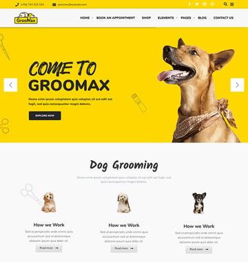 Groomax - Pet Grooming  Shop WordPress Theme