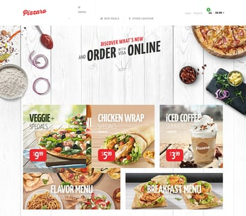 Food Store Shopify Theme - Pizzaro