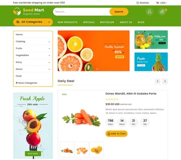 SeedMart Shopify Food Grocery Store