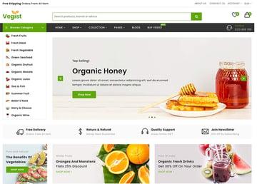 Vegist - The Vegetables Organic Food eCommerce Shopify Theme