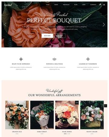 Rosebud - Flower Shop and Florist WordPress Theme