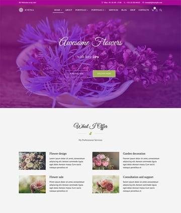 Kvetka - Flowers  Shop WordPress Theme