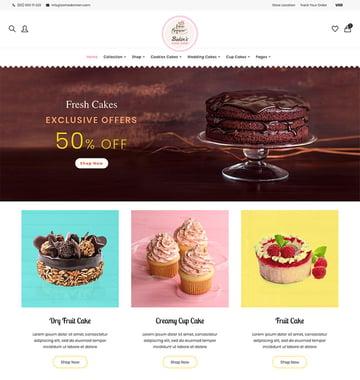 Bakins Shopify Cake Shop Bakery Theme