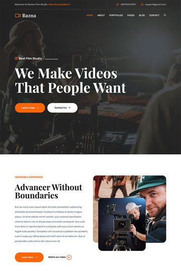 Bazna   Multipurpose Film Studio WordPress Theme