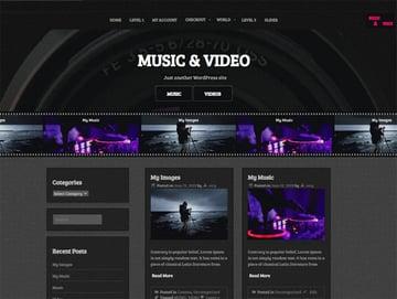 Music and Video (Free WordPress Video Theme)