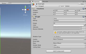 Point light - Inspector parameters