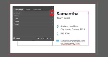 Click the Create Merged Document Button