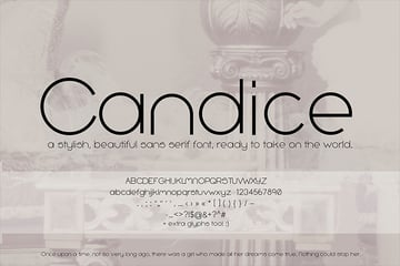 Candice Font for iPhone and iPad
