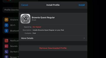 Profile Install Font to iPad