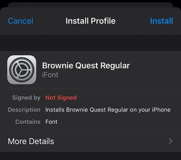 Profile Install Font to iPhone