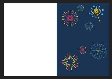 Affinity Designer Template Greeting Card Fireworks