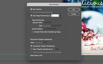 Adding Page Numbers InDesign