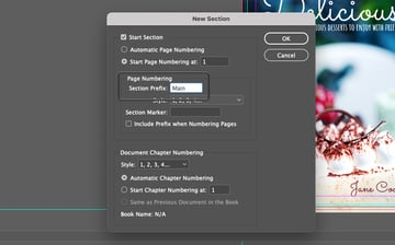 Add Page Section Prefix for InDesign Page Number