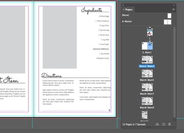 Add Page Number InDesign Section