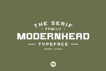 Modernhead Serif Typeface Modern Web Font