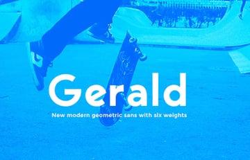 Gerald Sans Font Geometric Modern Typeface